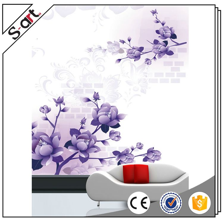 New style exclusive artistic 3d flower wall mural