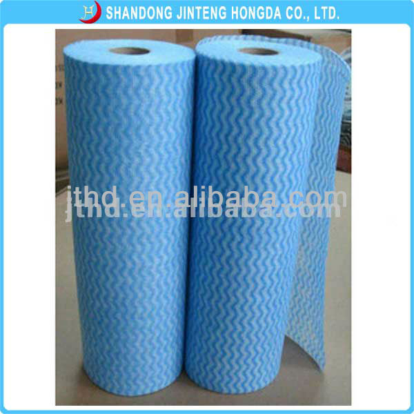 High Quality Soft Spunlace Nonwoven Cleaning Wipes Rolls