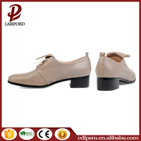 OEM customized high quality comfortable perfect color pictures casual leather ladies shoes
