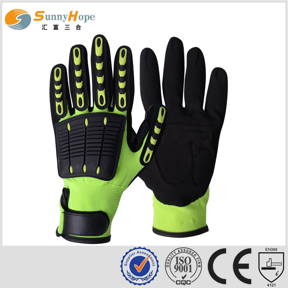 Sunnyhope high impact gloves durable and comfortable oil & gas safety working gloves