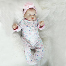 High quality kids soft vinyl silicone 22 inch realistic reborn baby doll