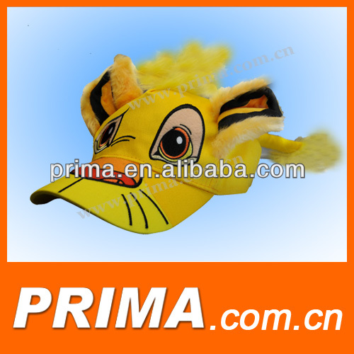 animal cartoon cap cute animal hat with 3D embroidery