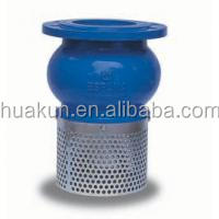 Ductile Iron / Stainless Steel Water Pump Foot Valve With SS304 Strainer , Bottom Valve