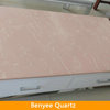 Newstar China Pink Quartz Stone TV Table Tops Factory