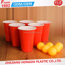 wholesales good quality red party beer pong set red solo cup with balls