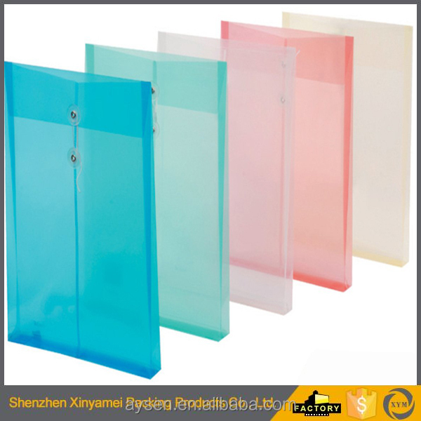 PP data document bag develope file folder/plastic official use high quality office supply A4 PP plastic clip document folder