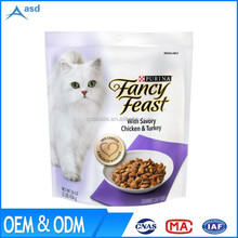 2017 Newest Cat and dog pet vacuum clear plastic food packaging pouch bag with show window