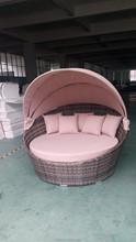 living room lying bed hand knitting weaving rattan round sun bed