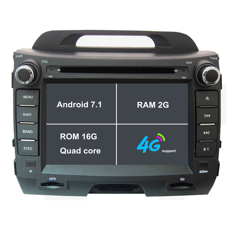 2G RAM Android 7.1 Car DVD Player for 2011 2012 2013 2014 2015 Kia Sportage R radio GPS tape recorder headunit car stereo 4G
