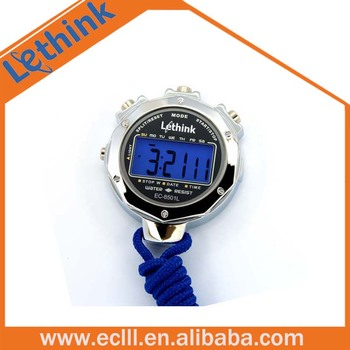 large metal digital led stopwatch with back light