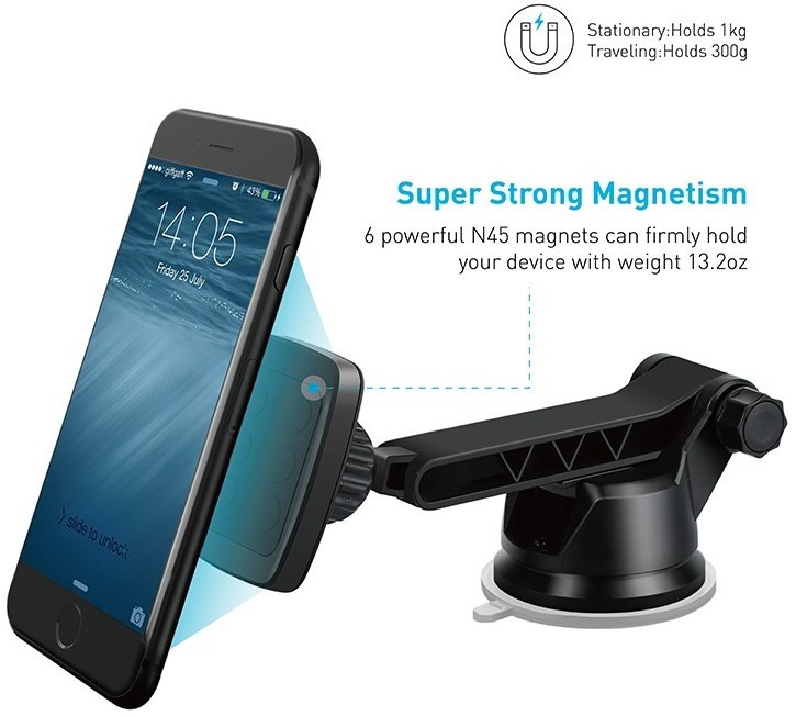 Apps2car Magnetic Phone Mount For iPhone Magnet Cell Phone Suction Cup iOttie Magnetic Car Mount Holder