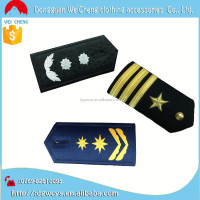 Bulk Hand Bullion Sewn Braid Custom Embroidered Shoulder Epaulets