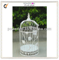 White round decorative metal bird cage