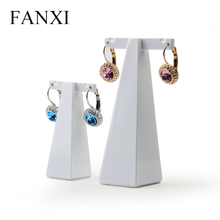 FANXI Wholesale Luxury High Quality Resin Jewelry Display Stand For Counter Shop Custom Logo Lacquered Ear Stud Earrings Display