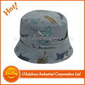 Good quality printed children 100% cotton corduroy bucket hat