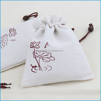 New products white jewelry pouch burlap gift bag with logo