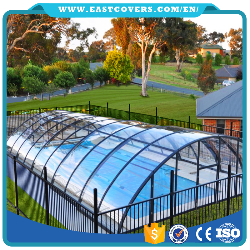 Commercial Polycarbonate Swimming Pool Retractable Roof Enclosure   Buy Swimming  Pool Roof,Polycarbonate Enclosure,Swimming Pool Retractable Roof Product On  ...