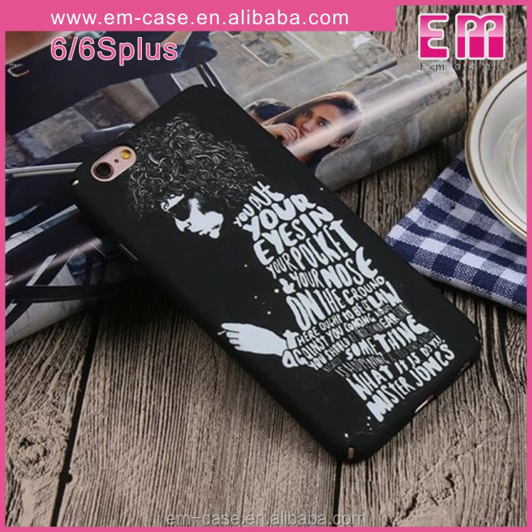 Fashion colorful CrossBones Skull Heads flower Luminous back cover hard PC case for iPhone 6