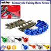 BJ-Screws-2004 Motorcycle Aluminium M6 Allen Key Fairing Bolts Fastener Clips Screw Set
