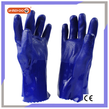 SHINEHOO Thick PVC Rubber Coated Water Proof Safety Gloves