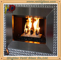 2-25mm thick High Borosilicate Fire heat Resistant Glass Fireplace Door