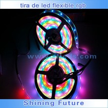 Tira flexible de luz DC5V 5m al por mayor 30 LED Strip pixeles WS2812B fichas WS2812 IC direccionable individual SMD 5050 LED