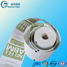 Register Thermal Paper Rolls 57mm with Red Warning line