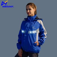 Reflective custom promotional LED fabric racing road bike cycling jacket