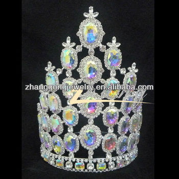 Beauty design pageat rhinestone crown