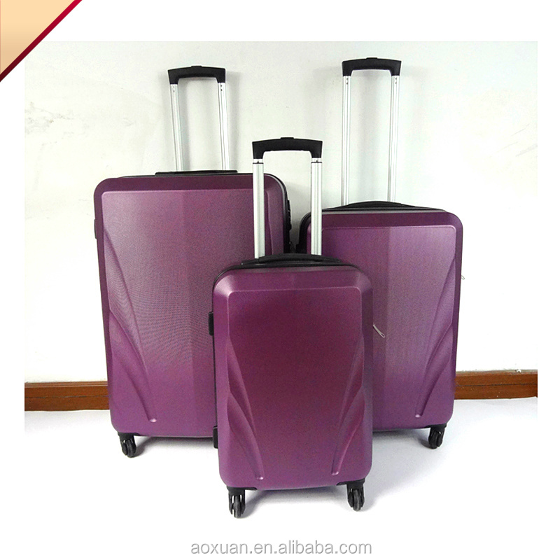 Brand hot sale beautiful cool design 3 Piece Pc Travel Trolley Luggage Set