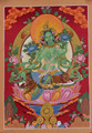 Beautiful Green Tara Thangka Tibetan Handmade in Nepal