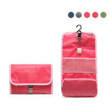 Large capacity multifunction foldable women's hanging travel toiletry bag