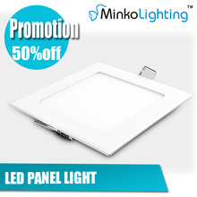 12W recessed SMD2835 led panel light(square)