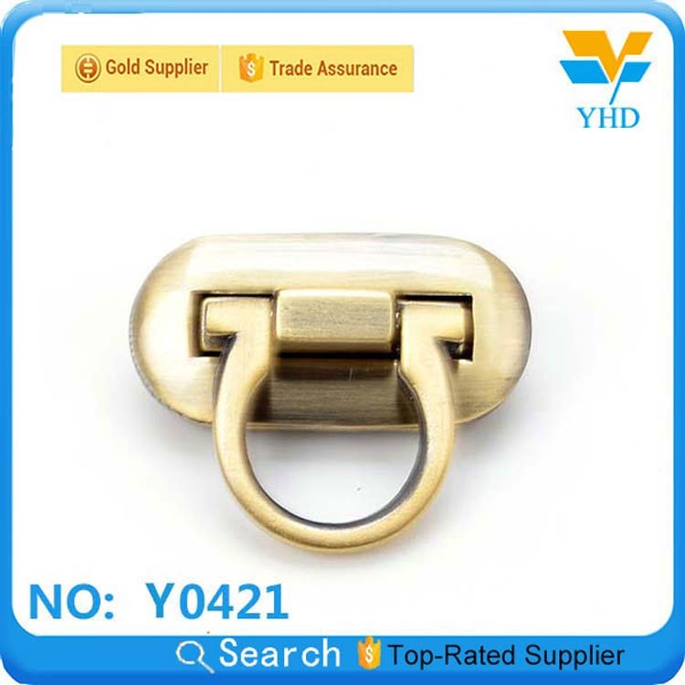 YHD plain metal case lock for bag accessories in guangzhou