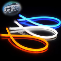 60cm 80cm double color silicone LED flexible hiway daytime running light and car led tuning light