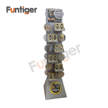 Double sided floor standing cardboard display for watches