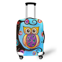 2017 Fashional colourful printing custom polyester spandex luggage cover travel suitcase cover