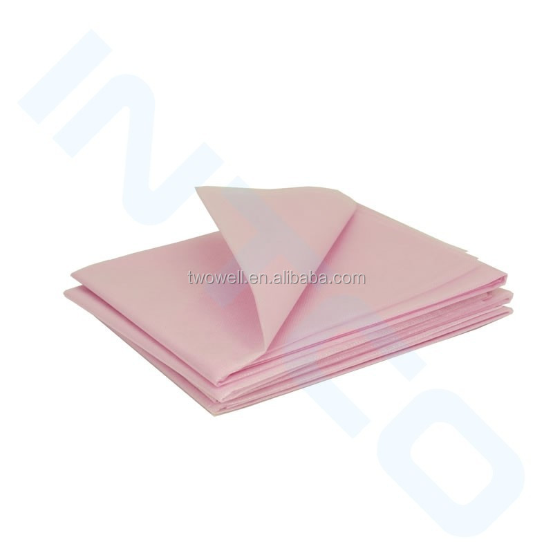 thermal bed sheet with pink and white color available