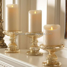 Ivory coloured Vintage Catholic Church Devotional Religious flameless LED wax candles