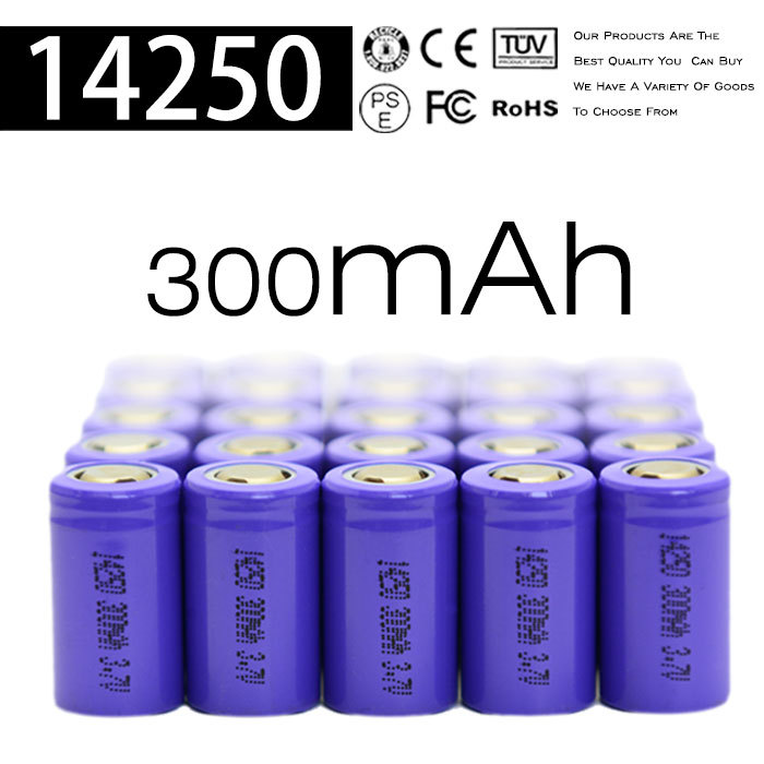 Lowest price !! 14250 ion imr battery , 3.6v li-ion battery 1/2aa 300mah 14250 li-ion rechargeable battery of laser pointer
