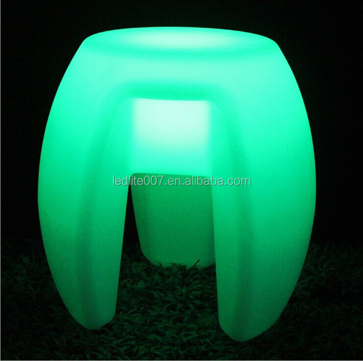 RGB color changing led bar chair light up plastic chairs