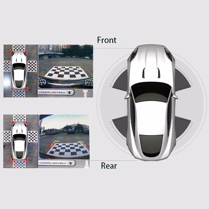 CE RoHS Parking Assistant Seamless Display Car CCTV DVR around view parking kit