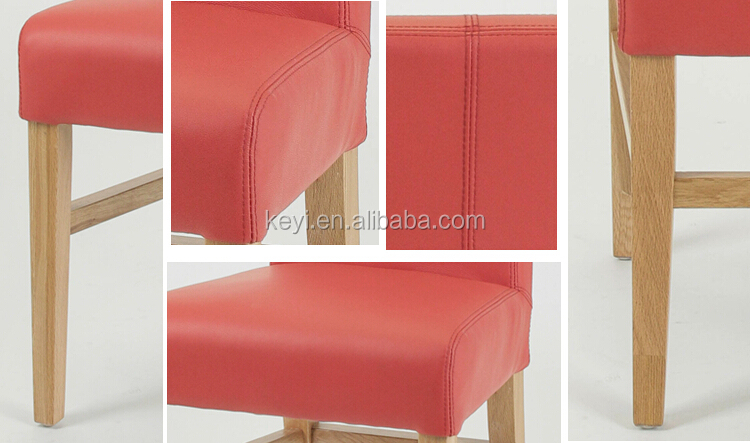 Modern High Back Armless Leather chair/ diningchair/Restaurant chair(KY-021-OAK)