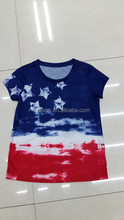 Stock clothing inventory clearance hot sale good quality girl's printed t-shirt