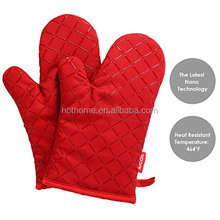 Oven Gloves Non-Slip Kitchen Oven Mitts Heat Resistant Cooking Gloves for Cooking, Baking, Barbecue Potholder