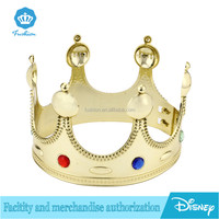 Wholesale Cheap Gold Plastic Kings Crown For Sale