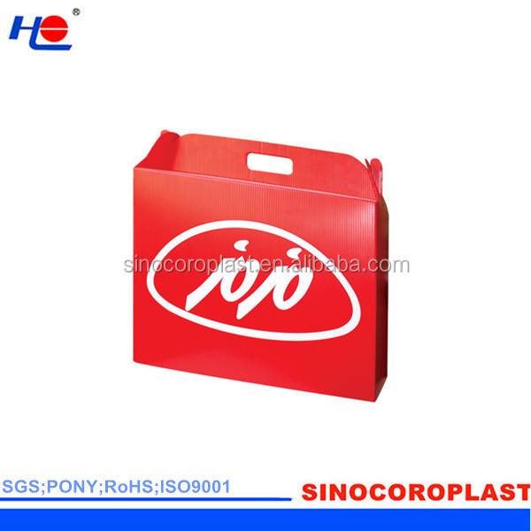 dustproof aging resistance and non-corrosive plastic polypropylene folding carton