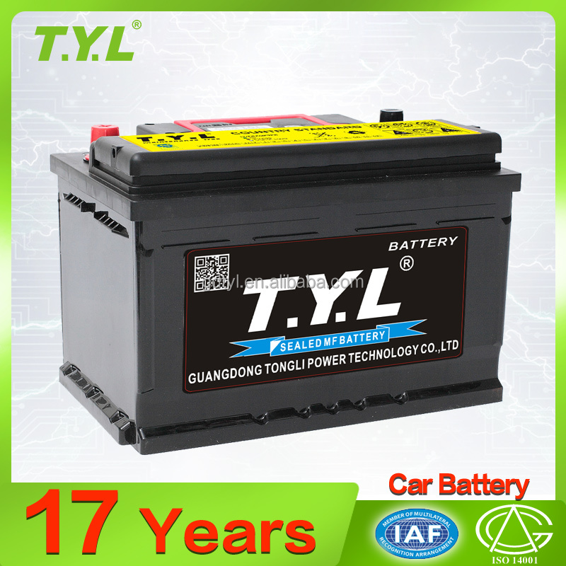 factory price model 55415L 12v54ah automobile car battery with TYL