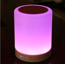 GOOD SOUND ! Portable Wireless Bluetooth Speaker With Touch Sensor LED Lamp &TF slot ,MP3 Player, Hands-free