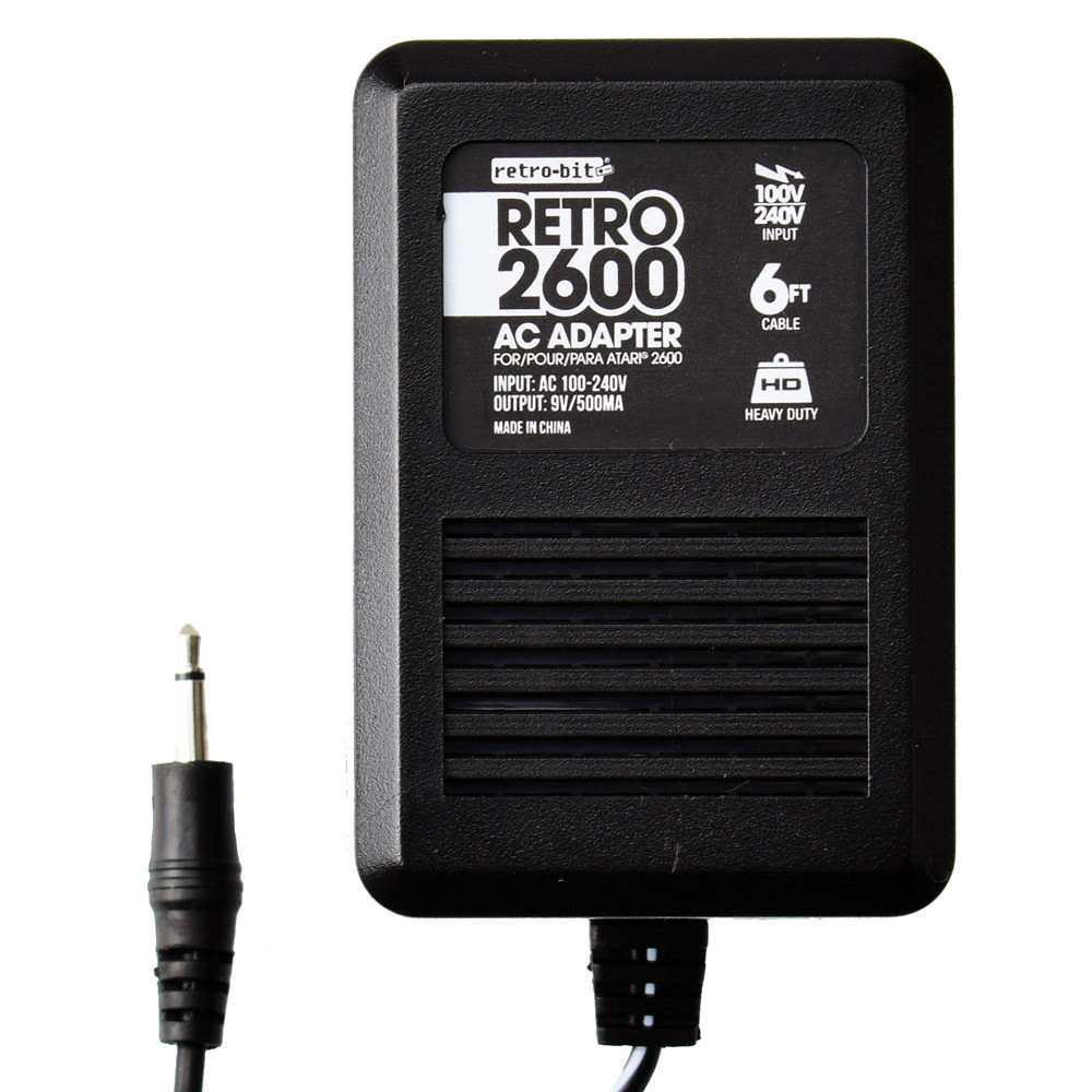 US Plug Retro-Bit Super Retro AC Adapter Power Supply for Atari 2600